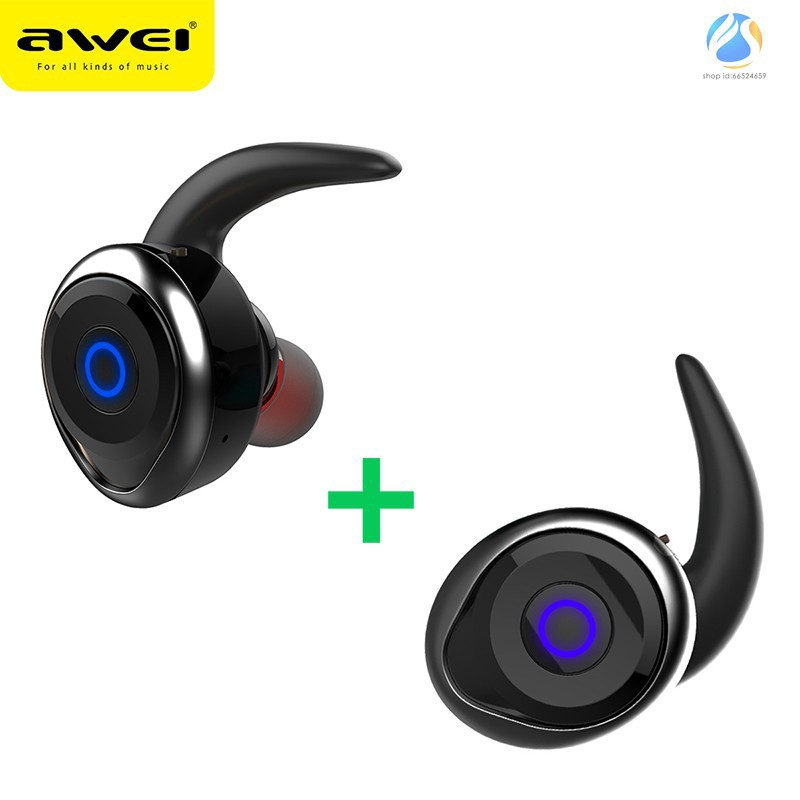 AWEI T1 TWS Bluetooth Earphone Mini Bluetooth V4.2 Headset Double Wireless