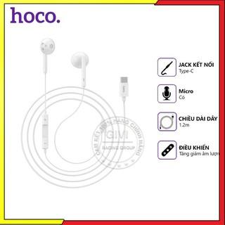 Tai nghe dây Hoco L10 jack Type-C, dài 1.2m, tương thích nhiều thiết bị Android