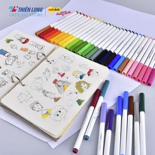 Hình ảnh Bút Lông Màu Fiber Pen Thiên Long-3