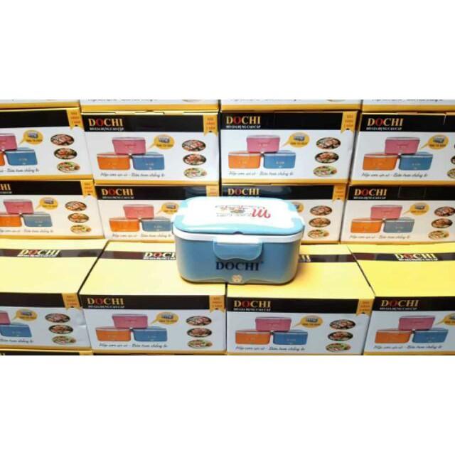 Hộp cơm cắm điện DoChi ruột inox Tăng kèm Túi - Đũa - Thìa - Dĩa