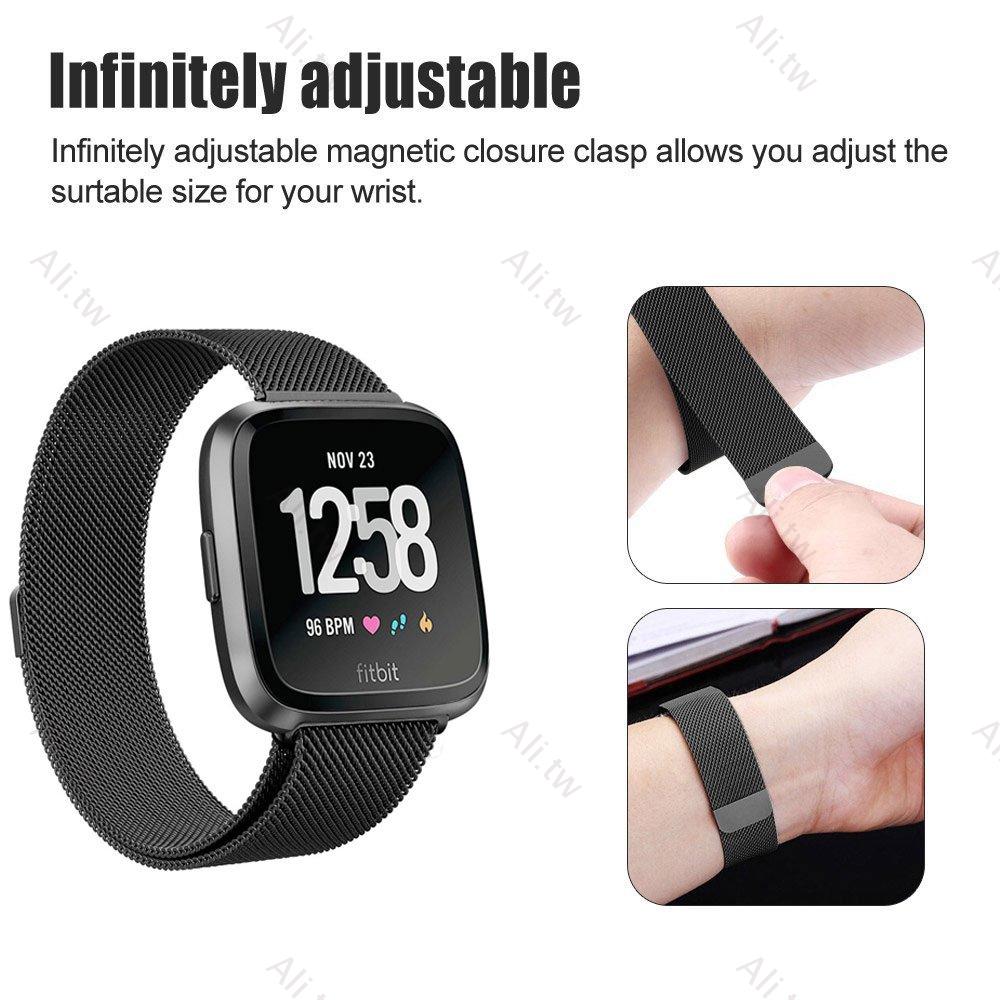 Dây Đeo Thể Thao Thoáng Khí 2 Màu Cho Đồng Hồ Thông Minh Fitbit Versa