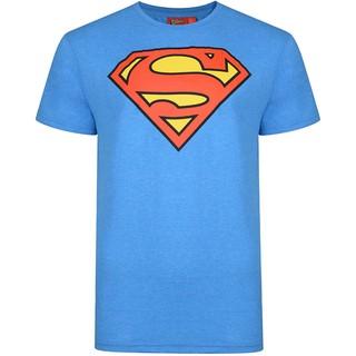 Ex UK Store Mens Superman T Shirt Cobalt Blue Short sleeve Print graphic Loose Casual Cotton