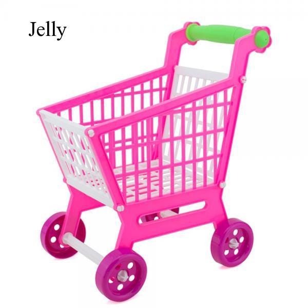 Kids Girls Children Mini Plastic Play House Shopping Mall Cart Trolley J409