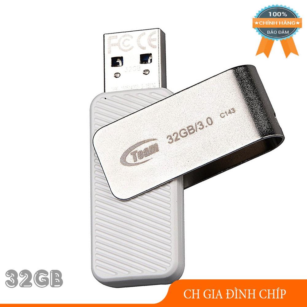 USB Team Group INC C143 32Gb 3.0 Tốc Độ Cao (Trắng) – Hãng Phân Phối Chính Thức Giá chỉ 98.000₫