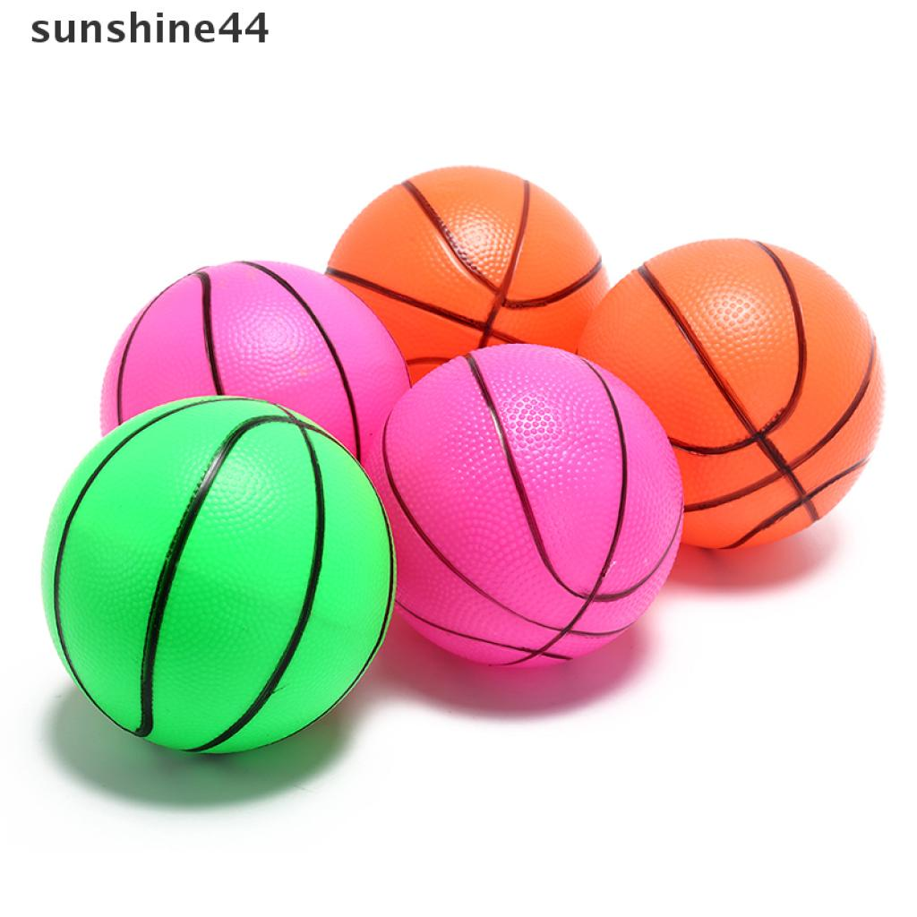 sunshine44 16cm inflatable basketball volleyball beach ball kids sports toy random color .