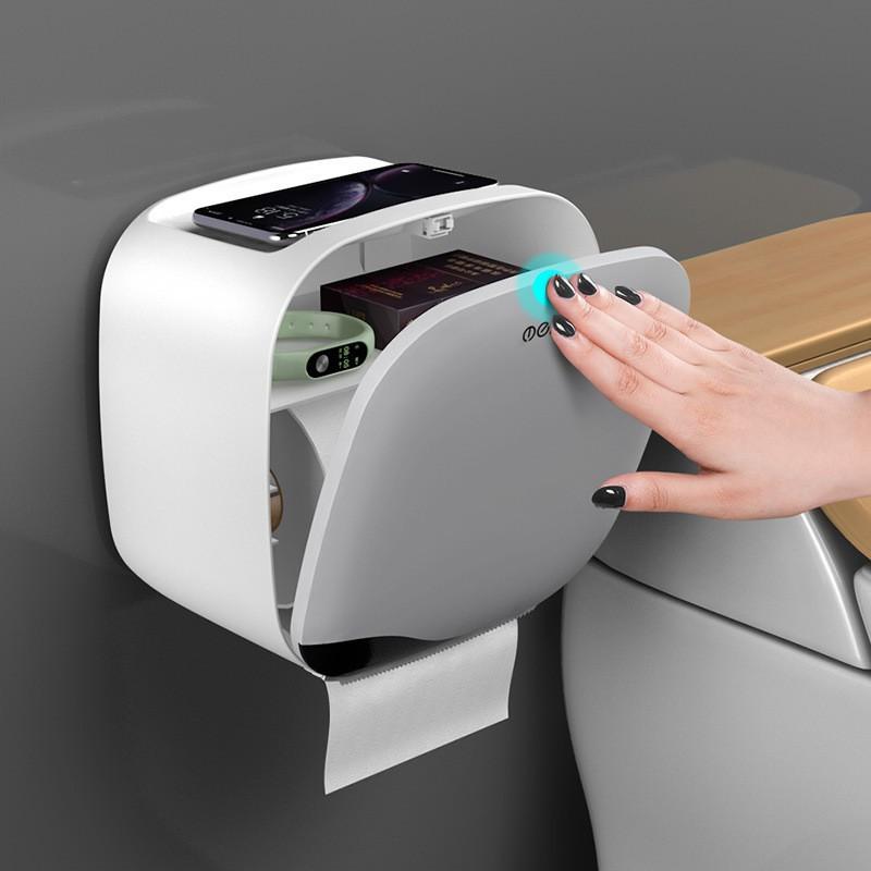 Hộp đựng giấy vệ sinh OENON, thiết bị nhà tắm dán tường cao cấp - Tặng Kèm Miếng Dán