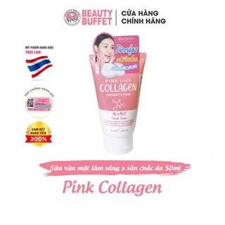 Sữa rửa mặt dưỡng trắng và săn chắc da Scentio Pink Collagen 50ml