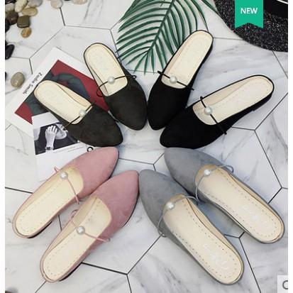 Giày nữ kiểu hở gót mũi nhọn thiết kế theo phong cách trẻ trung - 3553102 , 1066672971 , 322_1066672971 , 120000 , Giay-nu-kieu-ho-got-mui-nhon-thiet-ke-theo-phong-cach-tre-trung-322_1066672971 , shopee.vn , Giày nữ kiểu hở gót mũi nhọn thiết kế theo phong cách trẻ trung