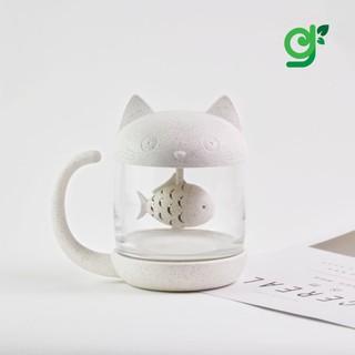 Tách trà mèo thủy tinh cao cấp kèm bộ lọc thumbnail