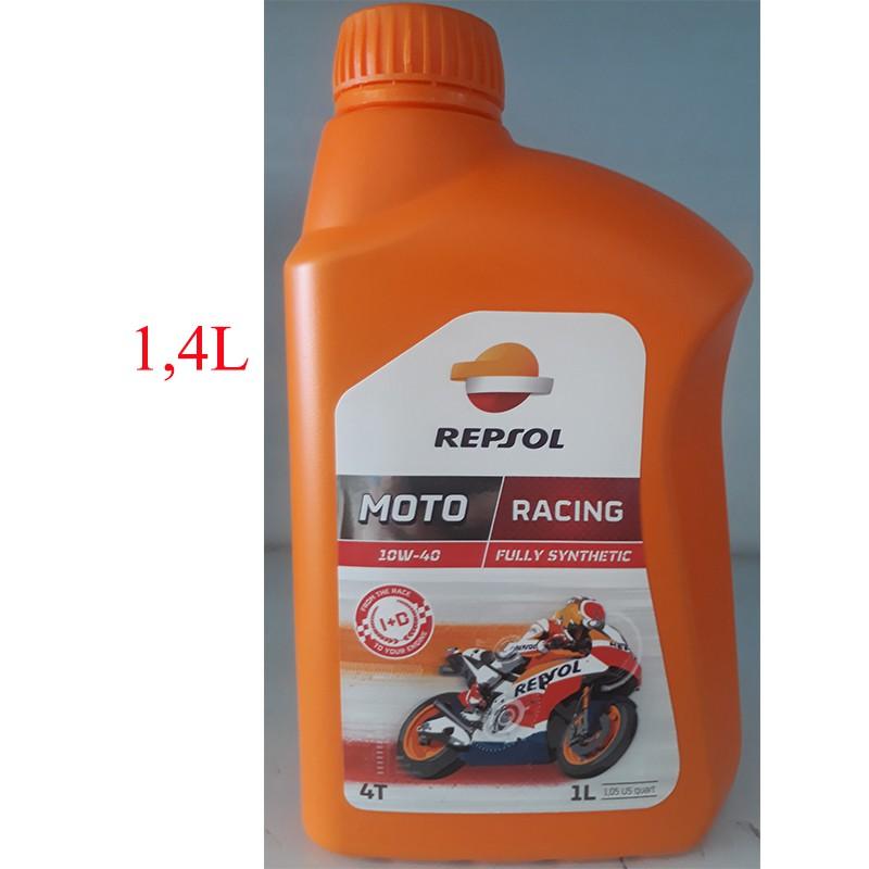 Dầu nhớt tổng hợp cao cấp xe số và xe tay côn Repsol Moto Racing 10W-40 1,4L - 3270508 , 471062609 , 322_471062609 , 420000 , Dau-nhot-tong-hop-cao-cap-xe-so-va-xe-tay-con-Repsol-Moto-Racing-10W-40-14L-322_471062609 , shopee.vn , Dầu nhớt tổng hợp cao cấp xe số và xe tay côn Repsol Moto Racing 10W-40 1,4L