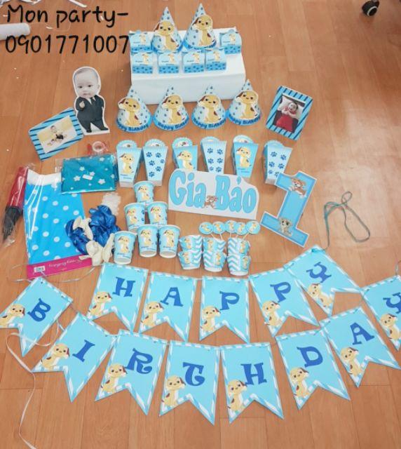 Set bàn+ set bóng, hình chibi.. trọn bộ trang trí sinh nhật