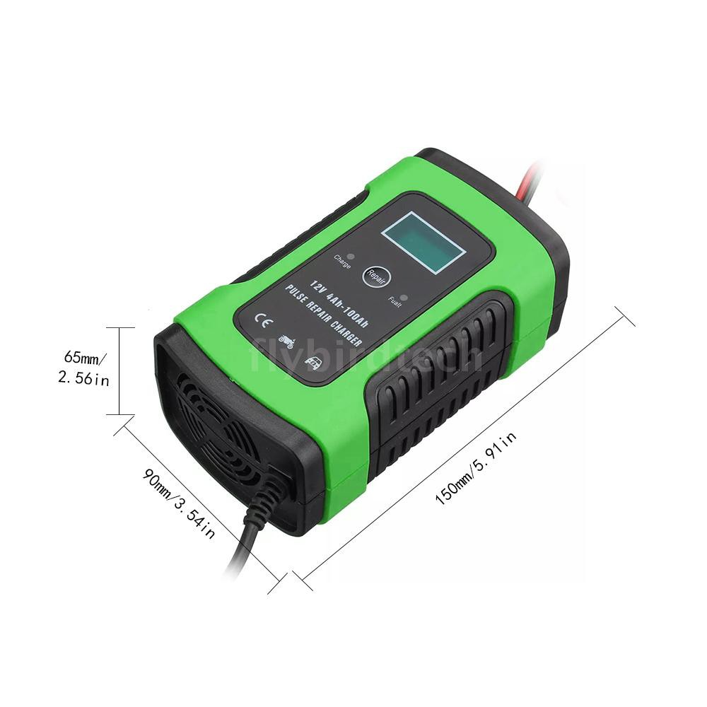 COD-FLY 12V 6A Car Battery Charger Intelligent Fast Power Charging Pulse Repair Charger Full Automatic Battery Maintaine