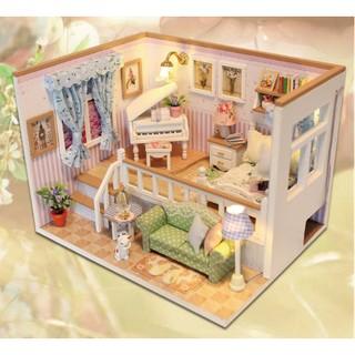 Mô hình nhà gỗ DIY Căn phòng của bé 001