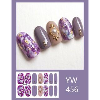 Sticker dán móng bột màu nhũ lấp lánh phong cách Nhật Hàn thời trang YW437-456 thumbnail