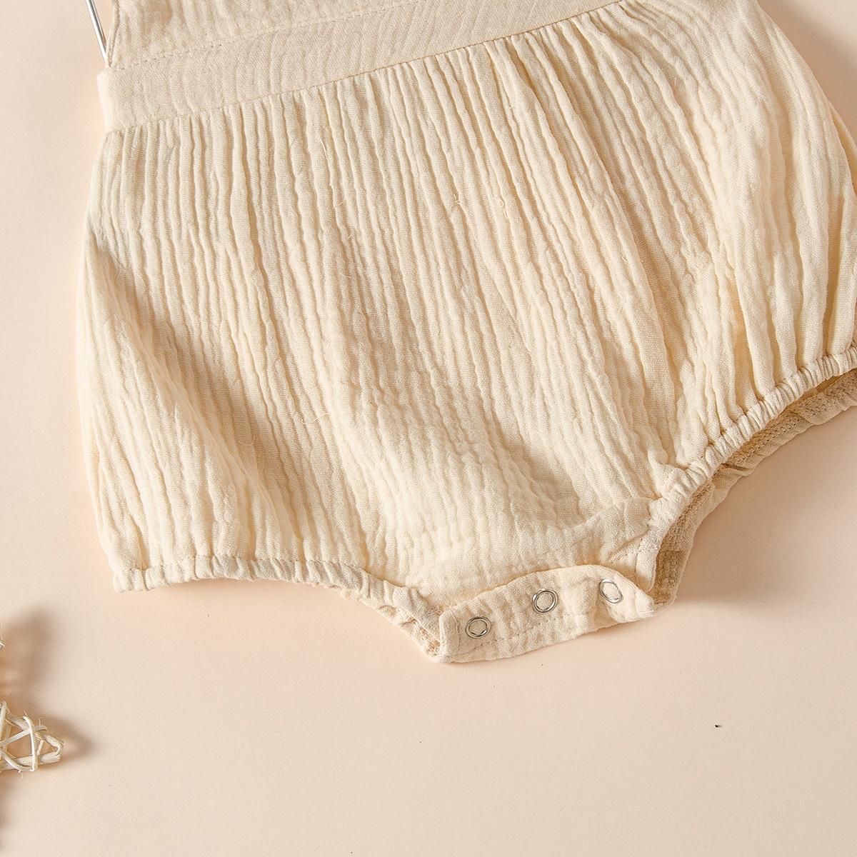 Áo Liền Quần Không Tay Chất Liệu Cotton Mỏng Thoáng Khí Màu Cầu Vồng Thời Trang Mùa Hè Cho Bé Gái Sơ Sinh 2021