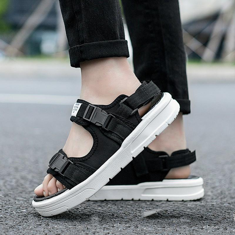 Giày sandal nữ đế cao su, dép quai hậu nữ nam đi học