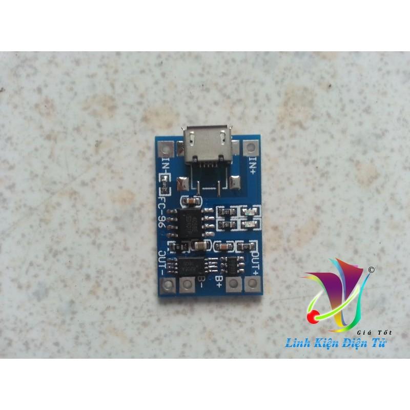 Sạc pin litium TP4056 có bảo vệ micro USB