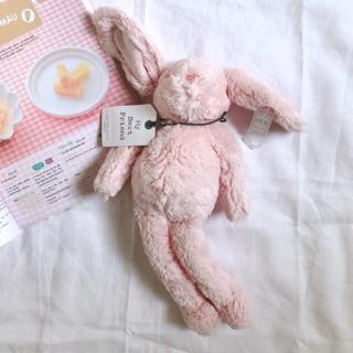 [sale 10% code THITNEW10] Thỏ bông màu hồng lông mịn – đồ chơi thú bông trẻ em hàng xuất