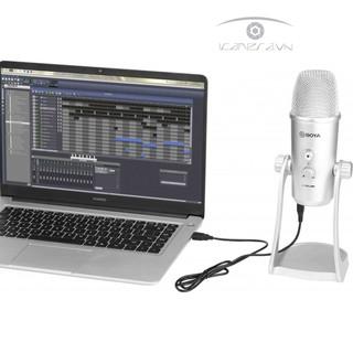 Mic thu âm Boya BY-PM700SP cho máy tính và điện thoại jack tròn 3.5mm quay video âm thanh tiếng động ASMR