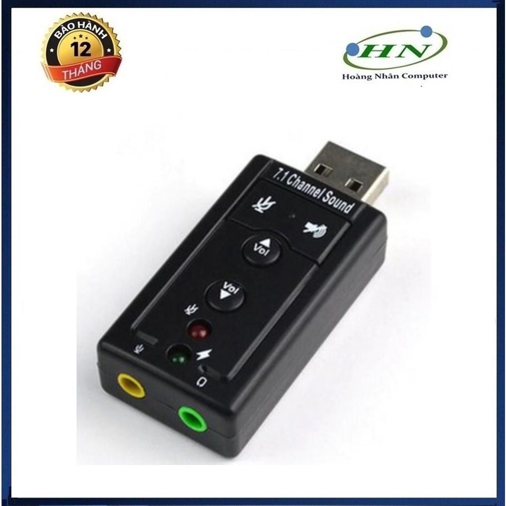 USB âm thanh SOUND 7.1 CAM CHO MÁY TÍNH VÀ LAPTOP CÓ NÚT CHỈNH ÂM LƯỢNG