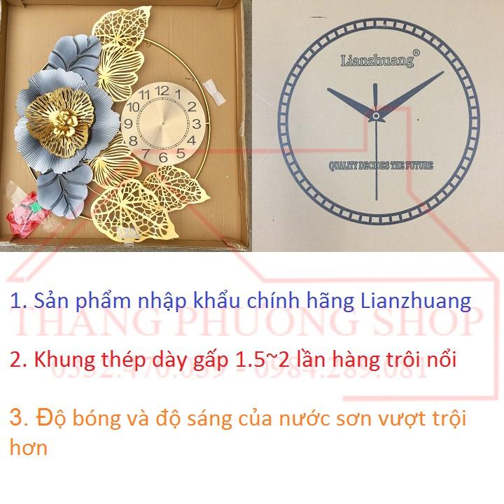 Đồng Hồ Treo Tường Hoa Cẩm Tú Cầu TP-047 (Tặng Máy Đồng Hồ Thay Thế)