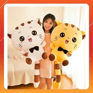 Gấu Bông Mèo Mặt Bự Mắt Tròn Siêu Cute Chất Cotton Nhồi Bông Cao Cấp Siêu Êm Siêu Mềm – Hàng Có Sẵn size 25-35-50 cm
