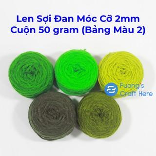Len Sợi Đan Móc Cỡ 2mm Cuộn 50 gram (Bảng Màu 2) thumbnail