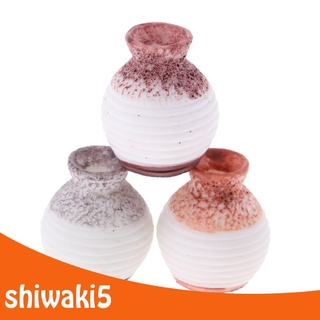 1/12 Scale Dollhouse Miniature Resin Vases 3 Pieces Random Color