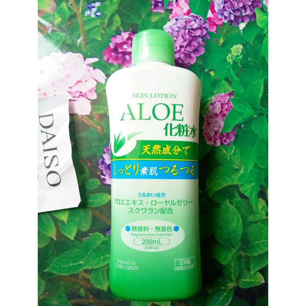 Skin Lotion chiết xuất Lô hội dưỡng da chuyên sâu 200ml Daiso Nhật