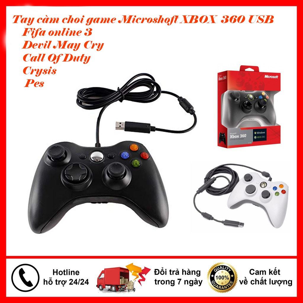 💥BẢO HÀNH 1 NĂM 💥 Tay cầm chơi game PC XBOX 360 V3 - Hàng chính hãng Micosoft - Chuyên game PC , Laptop ...