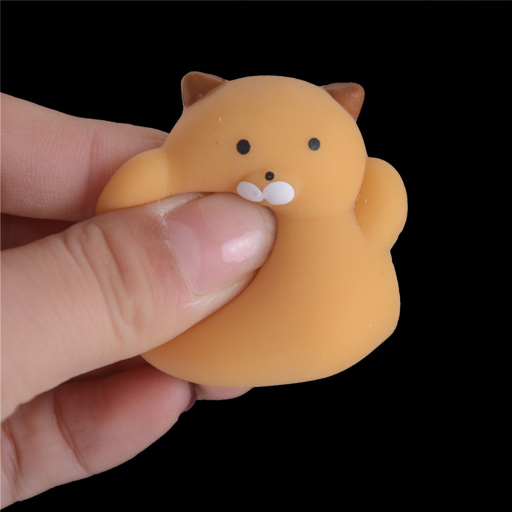 [HO&OFF] Fashion Slow Rising Squishy Squeeze Cute Cat Expression Smile Face Soft Relif Toy Gift