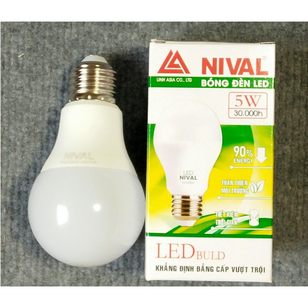 Bóng đèn Led Nival 5W siêu tiết kiệm điện (trắng)