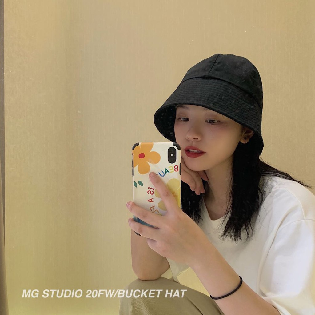 MG STUDIO/Trendy dome bucket hat #4