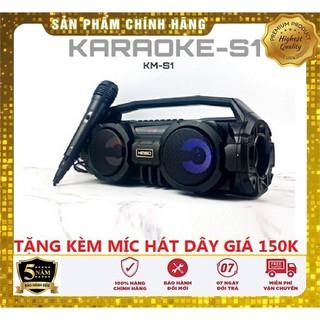 Loa Bluetooth KIMISO KM-S1 - Tặng kèm Mic hát Karaoke - Lỗi đổi mới thumbnail