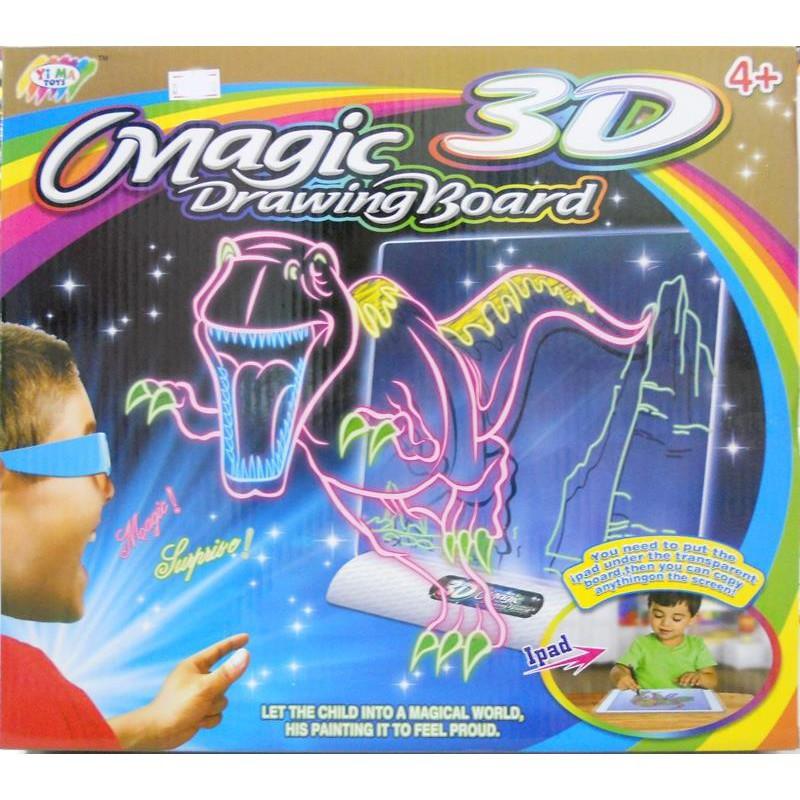 Bộ tranh vẽ 3d ma thuật kèm bút màu magic 3D Drawing Board