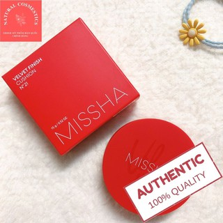 Phấn Nước Missha Đỏ Velvet Finish Cushion SPF 50+ PA+++ Che khuyết điểm hoàn hảo