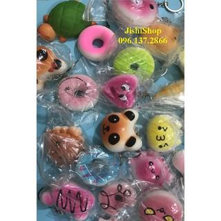 Kho Squishy giá sỉ 30con ngẫu nhiên tặng móc khóa- đồ chơi an toàn cho trẻ Tiện Dụng