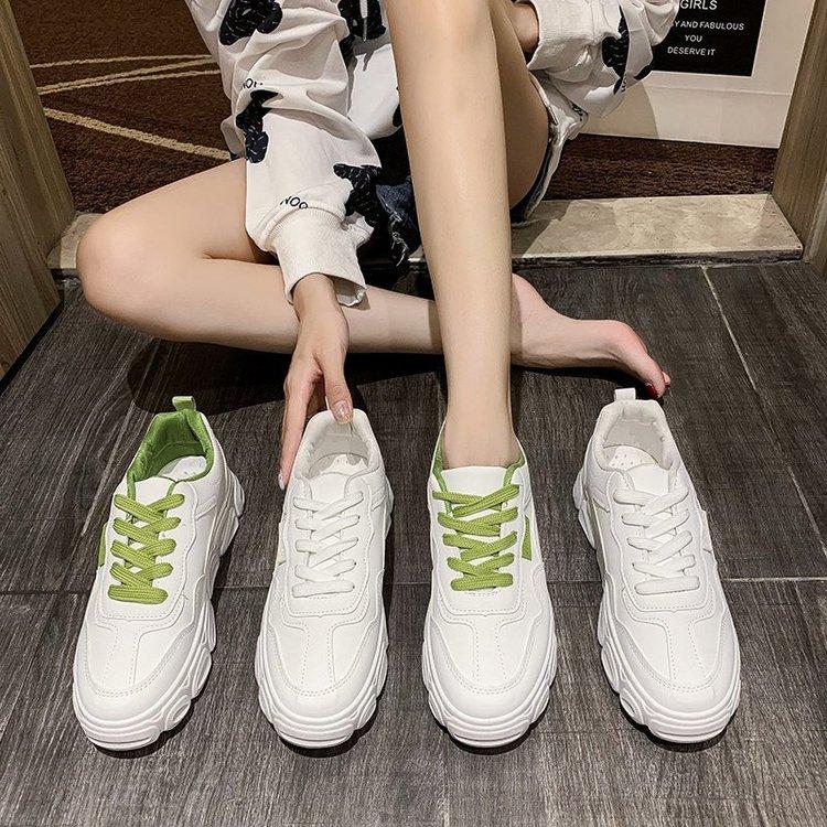 Giày Thể Thao Màu Trơn Thiết Kế Năng Động Trẻ Trung Hợp Thời Trang