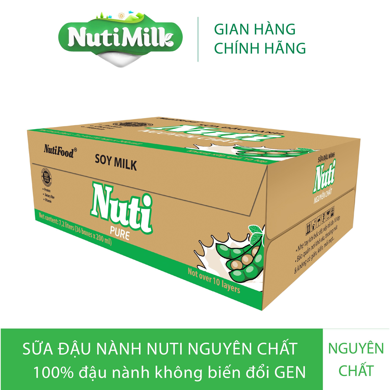 Thùng 36 hộp Sữa đậu nành Nguyên chất Hộp 200ml