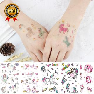 5pcs Cartoon Unicorn Temporary Tattoos For Kids Girls Body Stickers Tattoo Sticker Birthday Gift