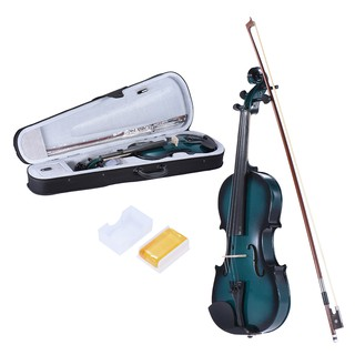 ammoon 1/4 Size Basswood Violin Maple Scroll Fingerboard Pegs Aluminum Alloy Tailpiece with High Quality Rosin Bow Violi