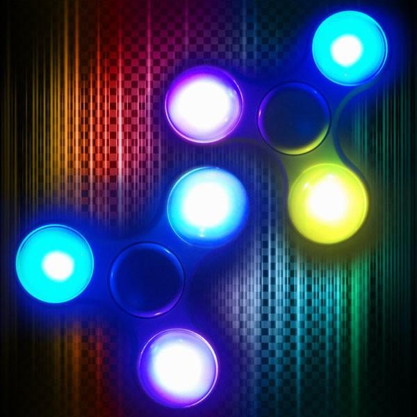 Con quay giảm stress Hand Spinner đèn led