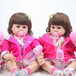 Handde Silicone vinyl adorable Lifelike baby Toddler Bonecas girl kid