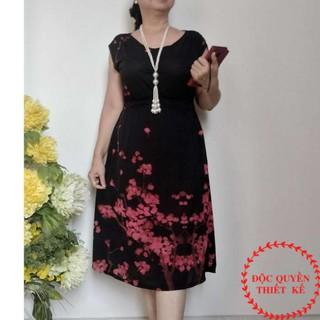 [HÀNG MỚI VỀ] Váy Cho Mẹ Trung Niên Thun Eo Chất Liệu Thun Cao Cấp Đầm Phù Hợp Với Người Trung Niên Từ 48KG ĐẾN 90K