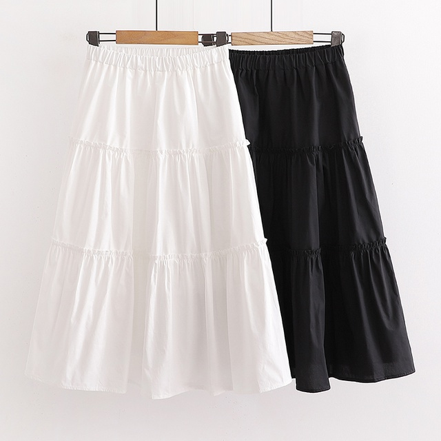 Chân Váy Dài 3 Tầng- Chân váy đen trắng 2 lớp chất liệu voan kiểu dáng ulzzang hàn quốc