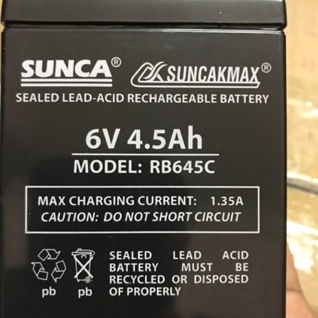 Ắc quy Sunca RB645C 6V 4,5Ah