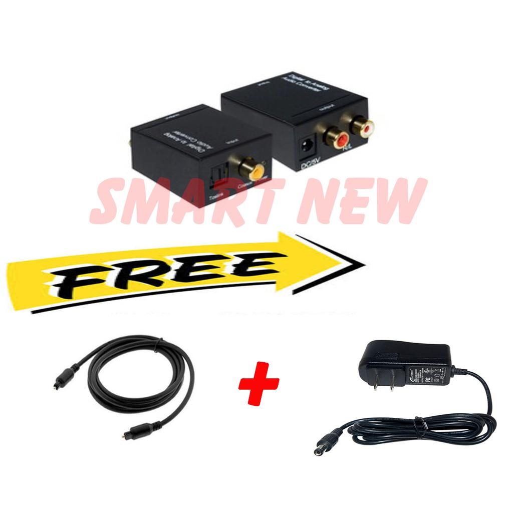 Bộ chuyển đổi tín hiệu âm thanh quang học Optical tặng kèm nguồn và dây quang 1m -DC633
