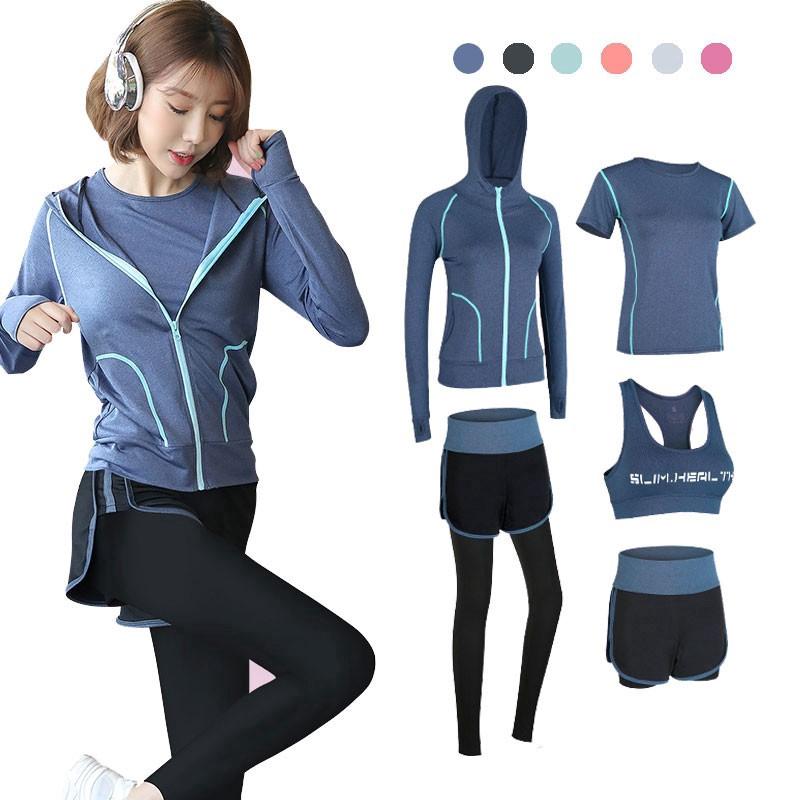 Bộ đồ tập thể dục 5 món dành cho nữ