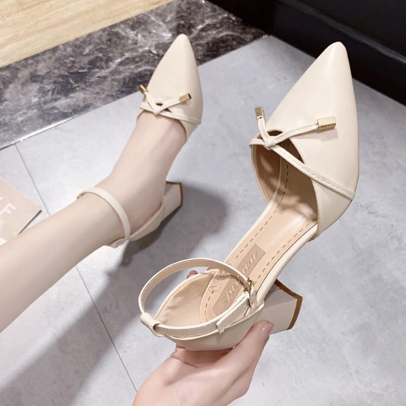 Sandal nữ 7 phân Style Ulzzang cực sang chảnh thời trang Hàn Quốc f79