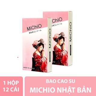 Bao cao su Nhật Bản MICHIO 1 HỘP 12 CHIẾC CHÍNH HÃNG Size 49 - 52mm - Hộp 12 cái - Bcs Gân Gai Toàn Thân thumbnail